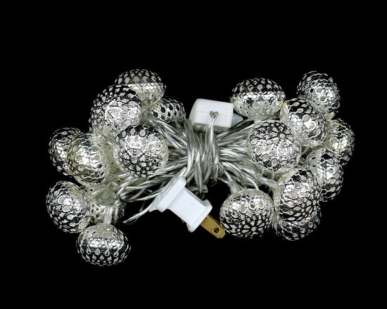 Christmas Home Decorations - Oval Filigree LED Ornament Lights - These gorgeous filigree LED Ornament Light Strings will make your holiday decorations sparkle. Very classy! Up to 100,000 hour bulb life.