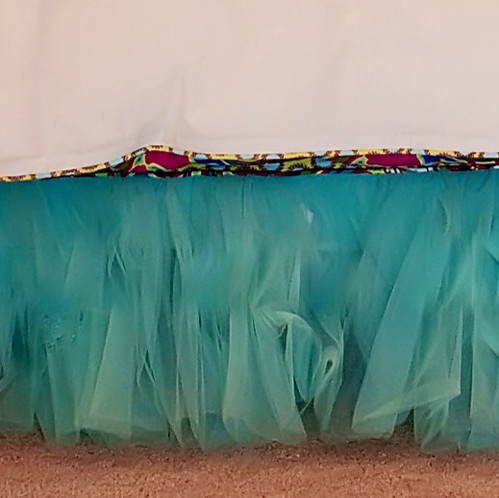 Anniston Tulle Bed Skirt, Aqua Blue eclectic-kids-bedding