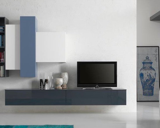 Wall Unit Modern Spar Exential Y16 - $5,254.00 - Modern Entertainment Center Exential Y16 by Gruppo Spar, Italy.