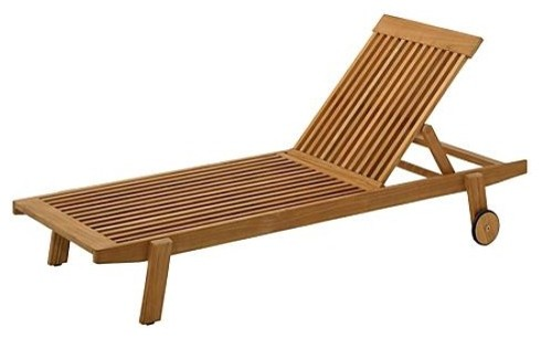 Clevedon Stacking Brown Lounge Chairr, Patio Furniture traditional-indoor-chaise-lounge-chairs