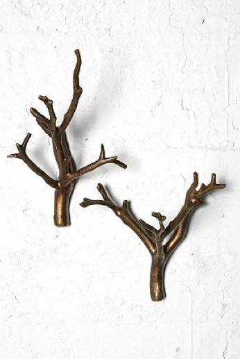 Branch Hooks, Bronze eclectic-hooks-and-hangers