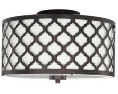 Edgemoor 2-Light Flush Laser Drum mediterranean-ceiling-lighting