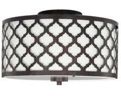 Edgemoor 2-Light Flush Laser Drum mediterranean-flush-mount-ceiling-lighting