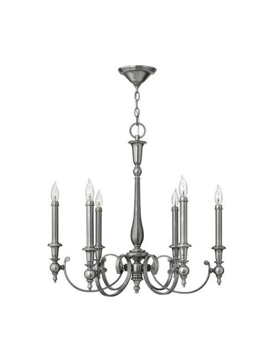 Hinkley Lighting 3626AN 6 Light Chandelier Yorktown Collection -