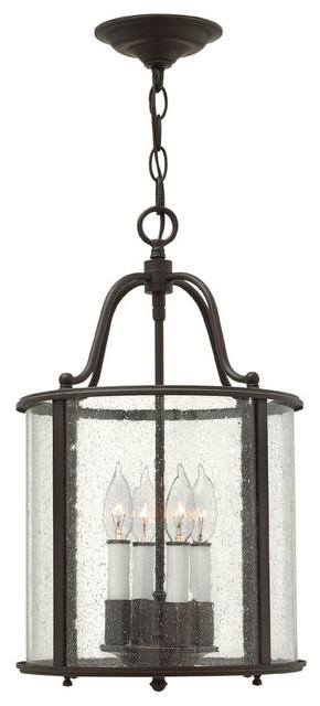Gentry Hanging 4-Light Foyer Lantern traditional-ceiling-lighting