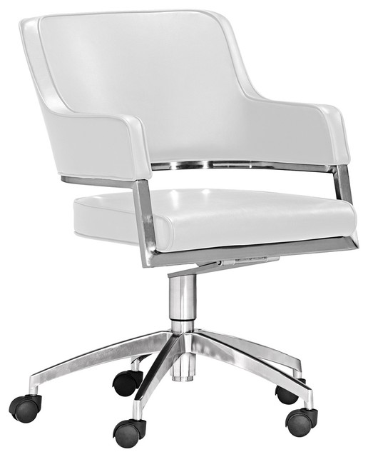 Zuo Performance Collection White Office Chair contemporary-office-chairs