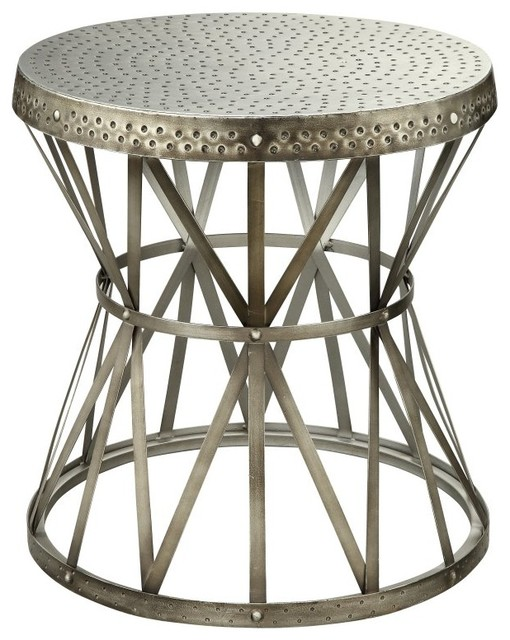 Coast to Coast 43329 Round Metal End Table Multicolor - 43329 contemporary-furniture