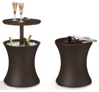 Rattan Cool Bar tropical-outdoor-pub-and-bistro-tables