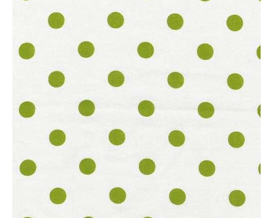 Lime and White Polka Dot -