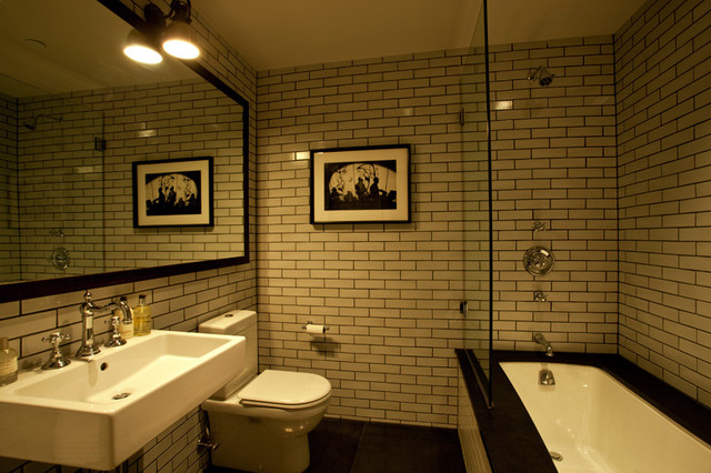 Guest Bathroom New York City Tribeca Loft Luxury Renovation