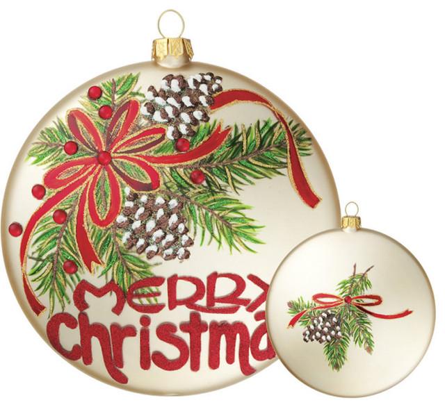 Merry christmas ornament rustic christmas ornaments for Outdoor merry christmas ornaments