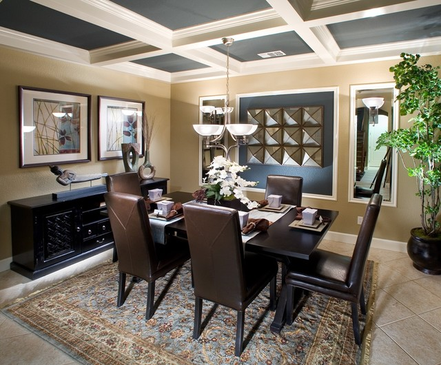 model homes eclectic dining room kansas city by