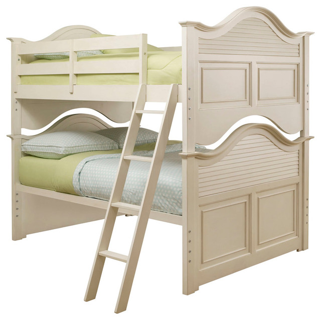 Lea Retreat White Bunk Bed in Antique White - Twin traditional-bunk-beds