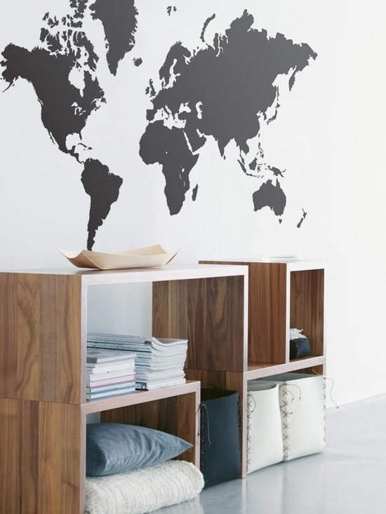 Ferm Living World Map WallSticker - With Ferm Living WallStickers it is easy to create a new look and change the style in a room in a matter of minutes. By using WallStickers, your kids can also help decorate their own room in an array of colors.