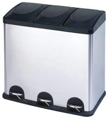 The Smart Bin Waste/Recycling Bin modern kitchen trash cans
