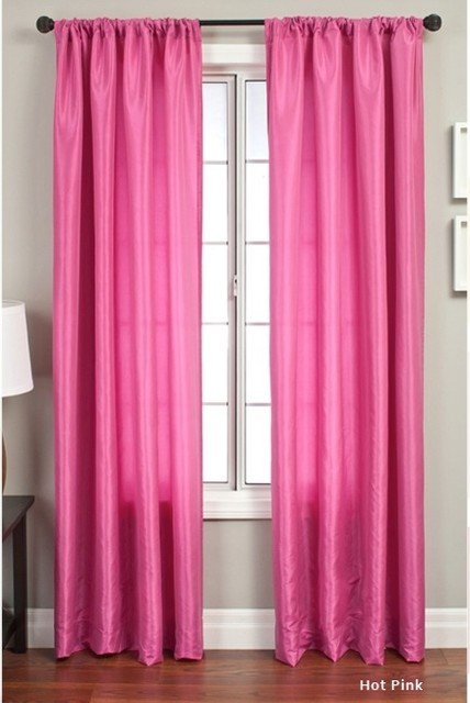 hot pink curtains for girls room curtain panel hot pink