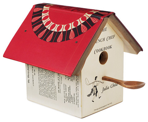 Julia Child Cookbook Birdhouse traditional birdhouses