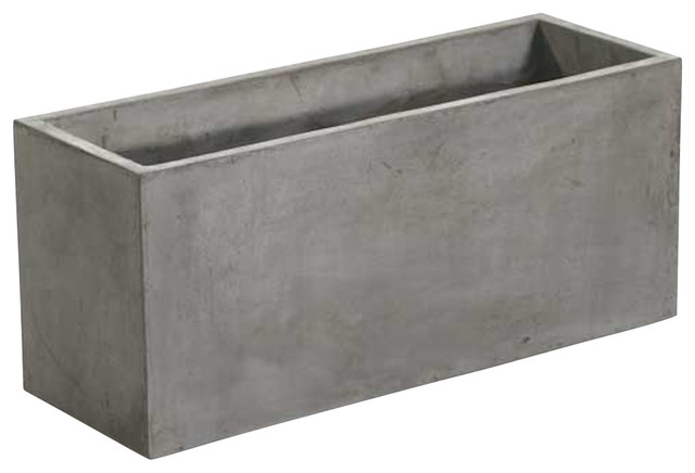 Newport Rectangular Concrete Planters, Sold as Set of Two ...