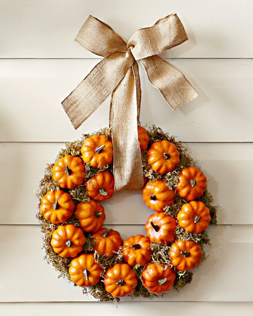 Pumpkin Patch Wreath traditional-holiday-decorations