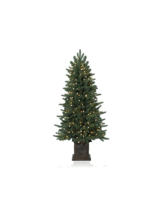 Balsam Hill Windsor Potted Spruce Artificial Christmas Tree - THE EVERGREEN CHARM OF BALSAM HILL'S WINDSOR POTTED SPRUCE CHRISTMAS TREE |