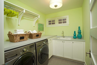 laundry room tips to brighten up dark rooms