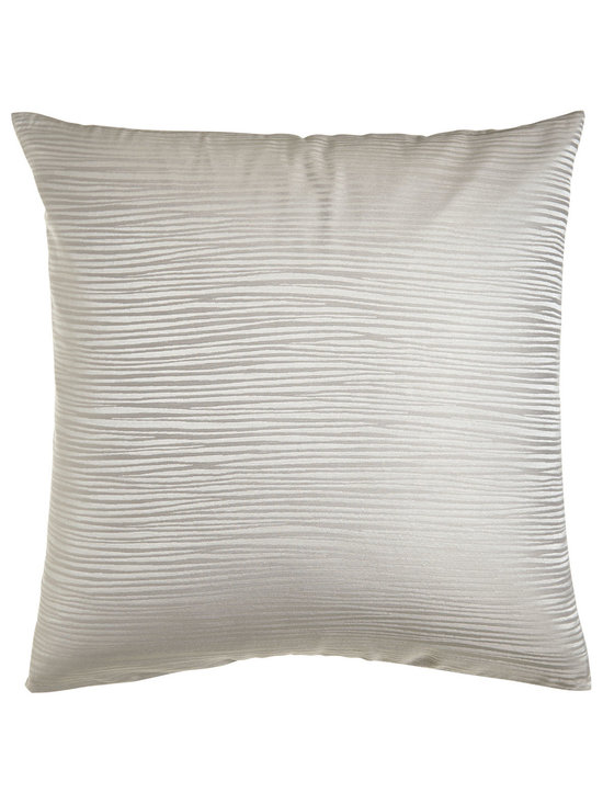 Donna Karan Home - Jacquard Stripe European Sham - IVORY (26X26) - Donna Karan HomeJacquard Stripe European ShamDesigner About Donna Karan Home:In 2001 renowned New York designer Donna Karan drawing inspiration from her world travels translated her sophisticated clean style into Donna Karan Home. With a focus on luxury and couture details the Donna Karan Home collection puts the iconic designer's touch on a beautiful range of options from tableware to bed linens and more. Look for touches such as hand embroidery exceptional attention to detail and fine fabrics including silk velvet and textured cotton.