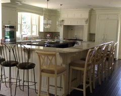 Coastal White French Country Kitchen traditional kitchen