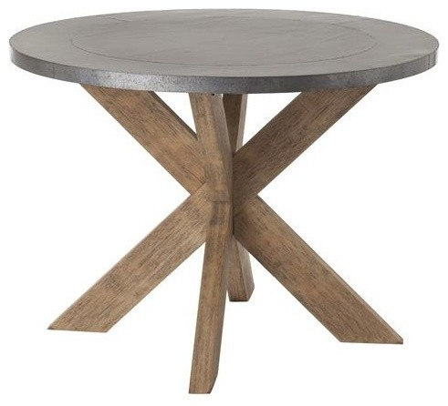Arteriors Halton Metal Clad/Wood Table traditional-side-tables-and-end-tables