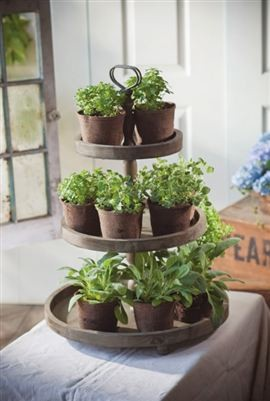 3-Tier Round Display traditional indoor pots and planters
