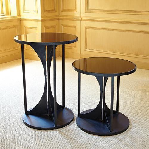 Global Views Hourglass Table Iron Traditional Side