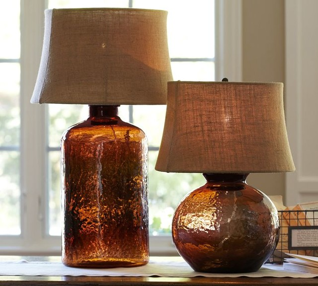 Clift Glass Table Lamp Base, Espresso contemporary-lamp-bases