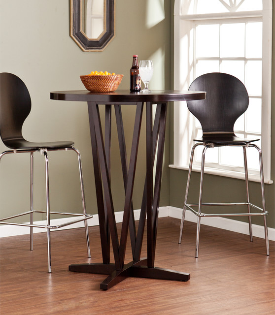 Upton Home Hubert Dark Espresso Bar Table Contemporary Indoor Pub And Bistro Tables By