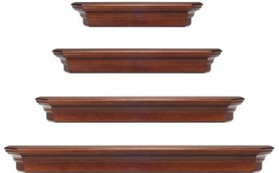 Pearl Mantels Lindon Wood Wall Shelf Modern Display