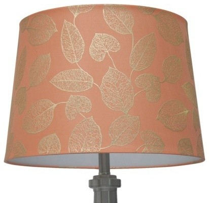 foil leaf lamp shade country coral gold contemporary lamp shades. Black Bedroom Furniture Sets. Home Design Ideas
