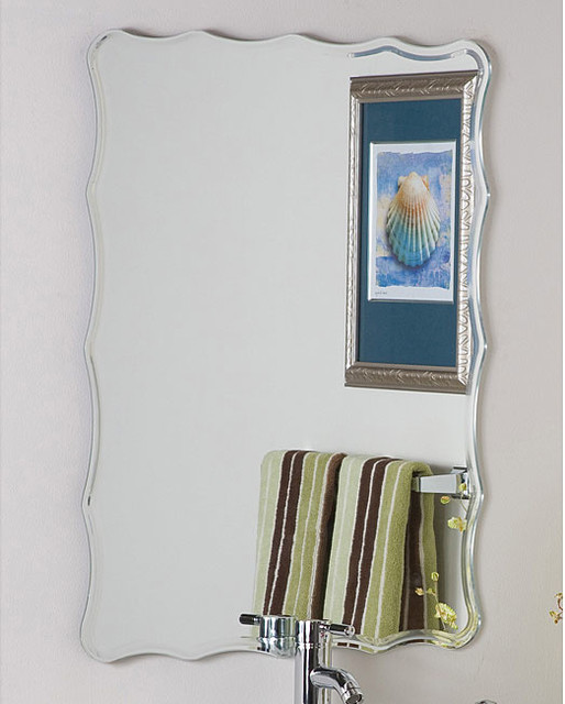 Frameless Ridge Mirror contemporary-bathroom-mirrors