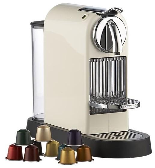 Nespresso Citiz White Espresso Machine modern-coffee-and-tea-makers