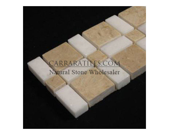 http://www.carraratiles.com/crema-marfil-marble-border-tile-with-white-thassos-p - Crema Marfil Marble Border Tile with White Thassos Polished. Premium grade Crema Marfil Marble Border Tiles with White Thassos mosaic tiles are perfect for both residential and commercial projects. Marble Border Tile Mosaics are a perfect finishing touch to any marble installation. A large selection of coordinating products are available, including Crema Marfil basketweave mosaics, Crema Marfil herringbone mosaics, Crema Marfil hexagon mosaics, 3x6 Crema Marfil marble subway tiles, 12x12 Crema Marfil marble tiles, 4x4 Crema Marfil marble tiles, Crema Marfil moldings and Crema Marfil baseboards, each available in polished finish.