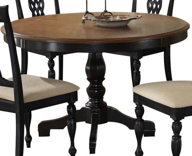 Hillsdale Embassy Pedestal 48x48 Round Dining Table  : traditional dining tables from www.houzz.com size 640 x 520 jpeg 70kB