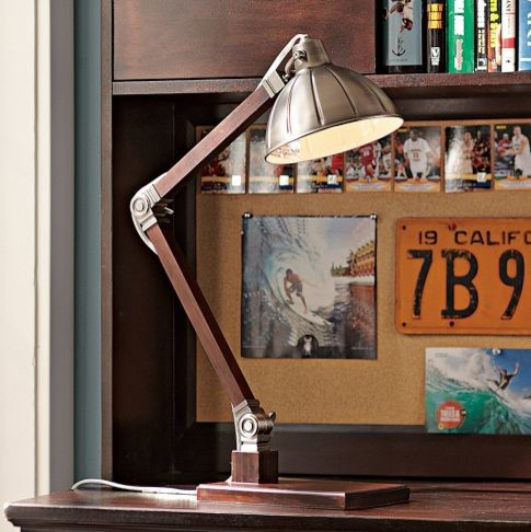 Wood Task Lamp eclectic-table-lamps