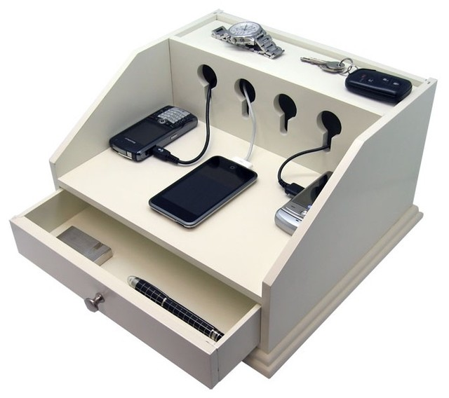 Heiden deluxe charging station valet transitional Diy cell phone charging station