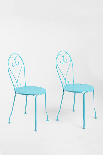 Cafe Chairs Blue Contemporary Outdoor Lounge Chairs By Urban Outfitters