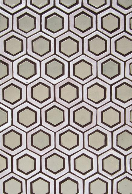 Custom Ring Honeycomb - Contemporary - Floor Tiles - minneapolis - by Mercury Mosaics and Tile