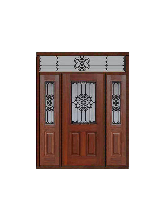 "Prehung Sidelites-Transom Door 80 Fiberglass Tivoli 1/2 Lite - SKU#    MCT012WTI_DFHTIG1-2RTIGBrand    GlassCraftDoor Type    ExteriorManufacturer Collection    1/2 Lite Entry DoorsDoor Model    TivoliDoor Material    FiberglassWoodgrain    Veneer    Price    4105Door Size Options    32"" + 2( 14"")[5'-0""]  $036"" + 2( 14"")[5'-4""]  $036"" + 2( 12"")[5'-0""]  $0Core Type    Door Style    Door Lite Style    1/2 LiteDoor Panel Style    2 PanelHome Style Matching    Door Construction    Prehanging Options    PrehungPrehung Configuration    Door with Two Sidelites and Rectangular TransomDoor Thickness (Inches)    1.75Glass Thickness (Inches)    Glass Type    Double GlazedGlass Caming    Glass Features    Tempered glassGlass Style    Glass Texture    Glass Obscurity    Door Features    Door Approvals    Energy Star , TCEQ , Wind-load Rated , AMD , NFRC-IG , IRC , NFRC-Safety GlassDoor Finishes    Door Accessories    Weight (lbs)    663Crating Size    36"" (w)x 108"" (l)x 89"" (h)Lead Time    Slab Doors: 7 Business DaysPrehung:14 Business DaysPrefinished, PreHung:21 Business DaysWarranty    Five (5) years limited warranty for the Fiberglass FinishThree (3) years limited warranty for MasterGrain Door Panel"