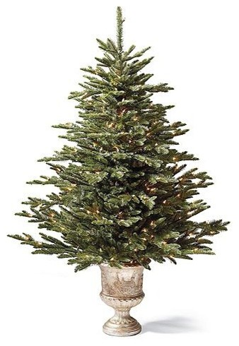Pre-lit Tabletop Deluxe Fraser Artificial Christmas Tree. traditional-plants