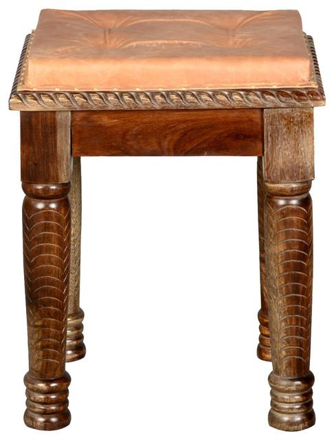 Parisian hand carved leather indian rosewood boudoir for Boudoir stoel