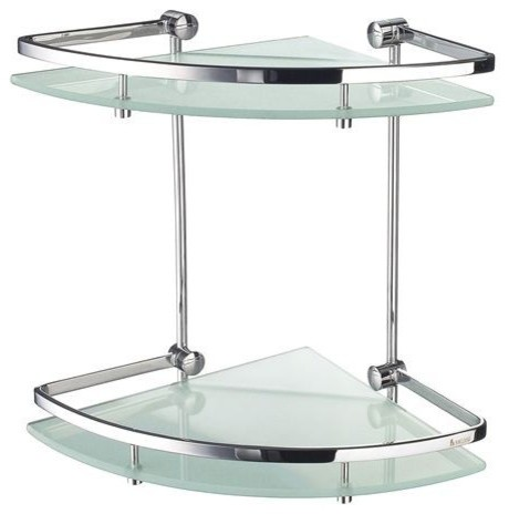 Smedbo OUTLINE Corner Bathroom Shelf 2 Level FK464 - Modern - Bathroom Accessories - new york ...