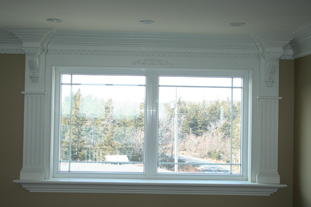 Window moulding ideas for Picture window ideas