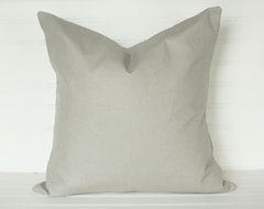 Solid Gray Pillow Covers by The Lacey Placey traditional pillows
