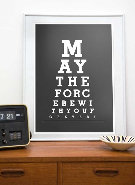 May the force be with You - Eye Chart contemporary-prints-and-posters