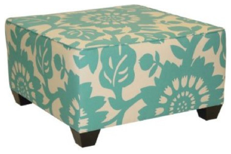 Gerber Square Ottoman Surf Eclectic Footstools And